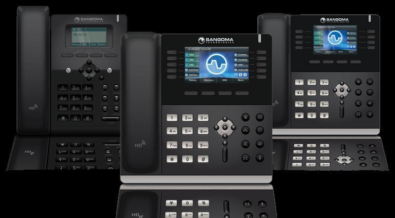 3 Sangoma Phones